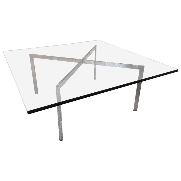 mies van der rohe for knoll barcelona x base coffee table for sale at 1stdibs. Black Bedroom Furniture Sets. Home Design Ideas