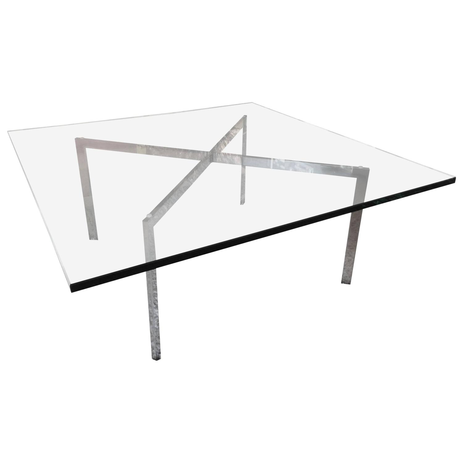 Superieur Mies Van Der Rohe For Knoll Barcelona X Base Coffee Table At 1stdibs