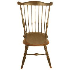 Connecticut Windsor SIde Chair signed I. Clark, circa 1800