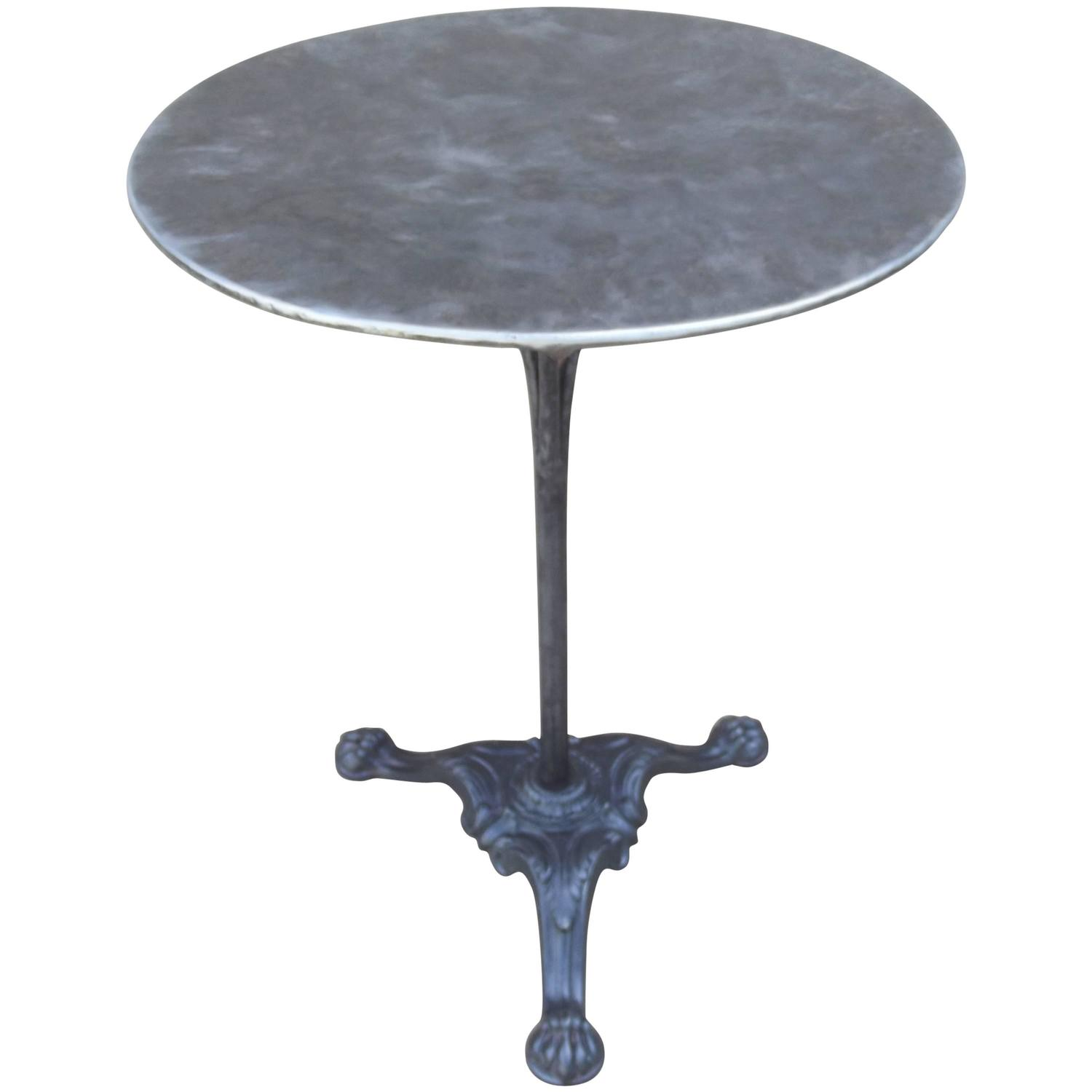 Cast Iron Bistro Table Base Polished With