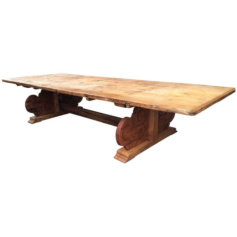 Magnificent Early 19th Century Venetian Banquet Table For Sale