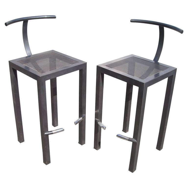 Philippe Starck Pair Of Bar Stools For Aleph Ubik