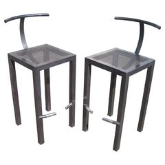 "Philippe Starck Pair of Bar Stools for Aleph Ubik, ""Sarapis"""