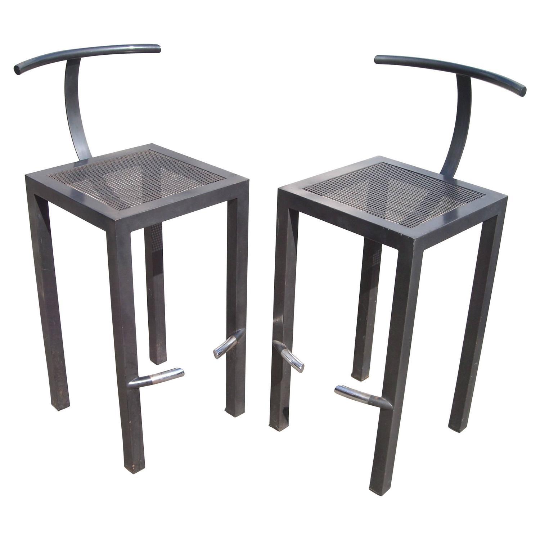 philippe starck pair of bar stools for aleph ubik sarapis for sale at 1stdibs. Black Bedroom Furniture Sets. Home Design Ideas
