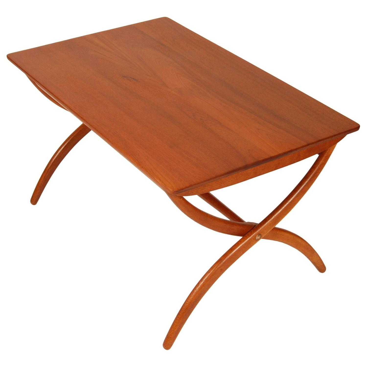 Ole wanscher adjustable coffee table for sale at 1stdibs for Adjustable coffee table
