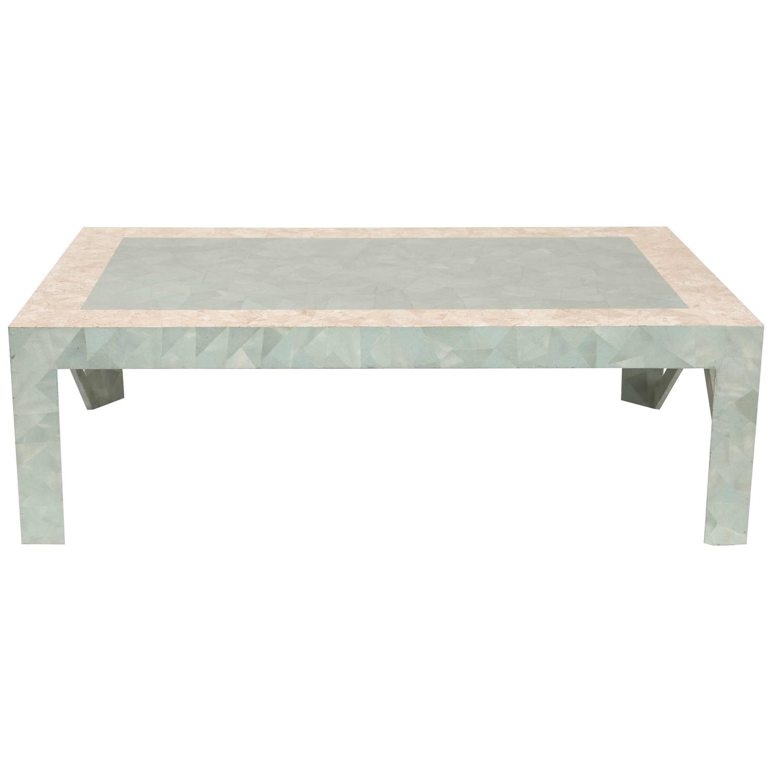 Architectural tessellated coffee table at 1stdibs for Architectural coffee table