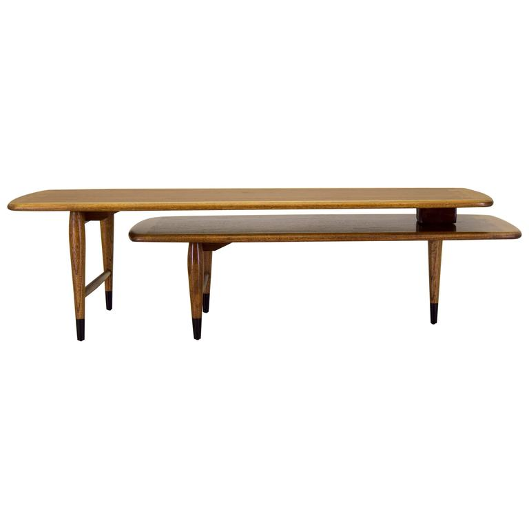 Lane Teak Coffee Table: Lane Acclaim Switchblade Articulating Coffee Table In