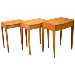 Midcentury Nesting Tables by Heywood-Wakefield in Solid Birch