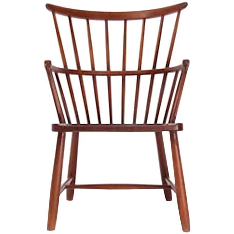 Beau Vintage Danish Modern Windsor Chair For Sale