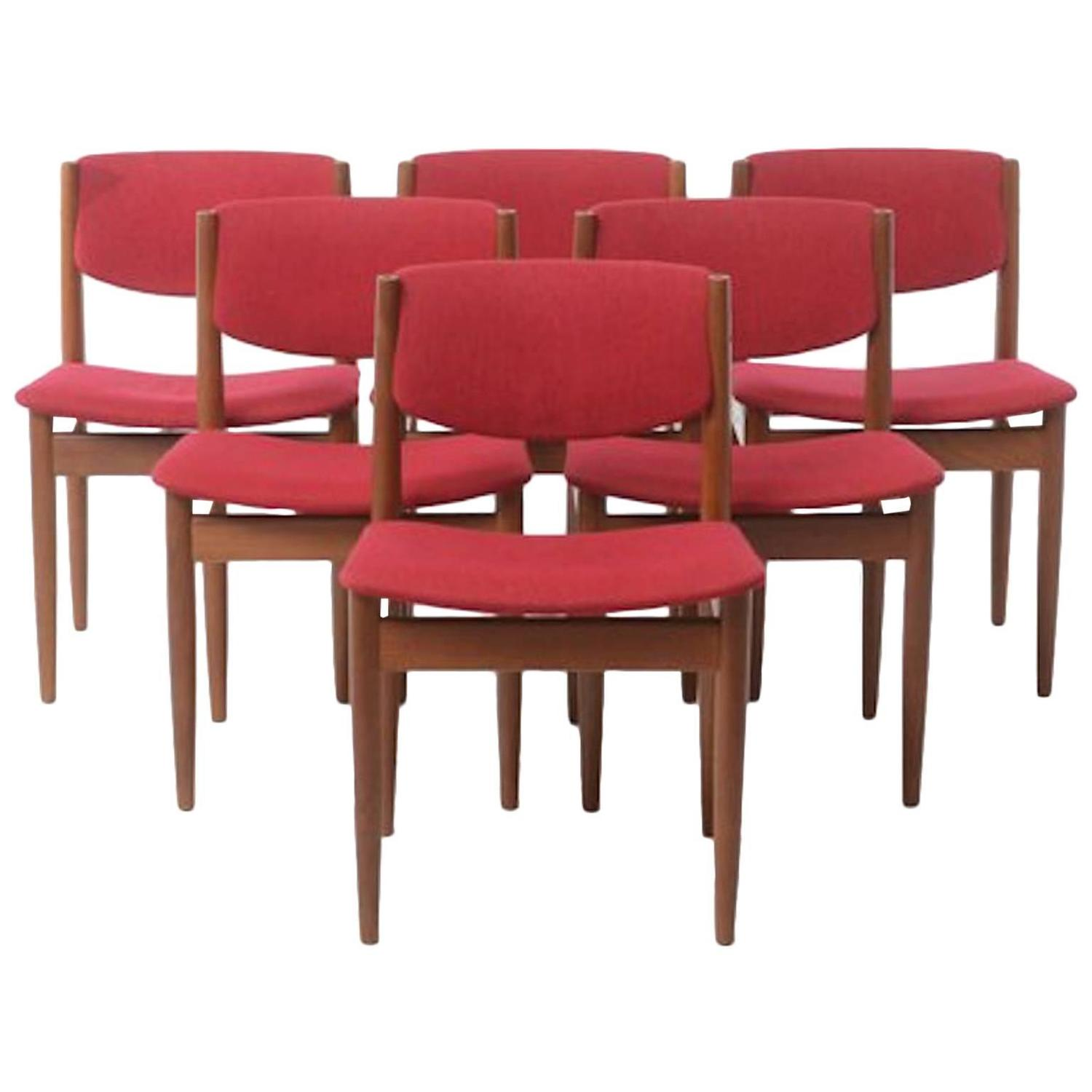 modern dining chairs by finn juhl set of six for sale at 1stdibs