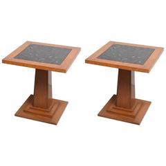 Deco Side Tables, Pair of Deco Original Condition, Stunning and Very Elegant