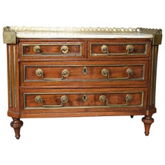Directoire Style Mahogany and Brass Inlaid Miniature Commode