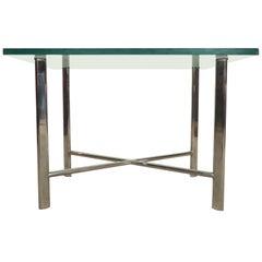 Midcentury X-Base Side Table