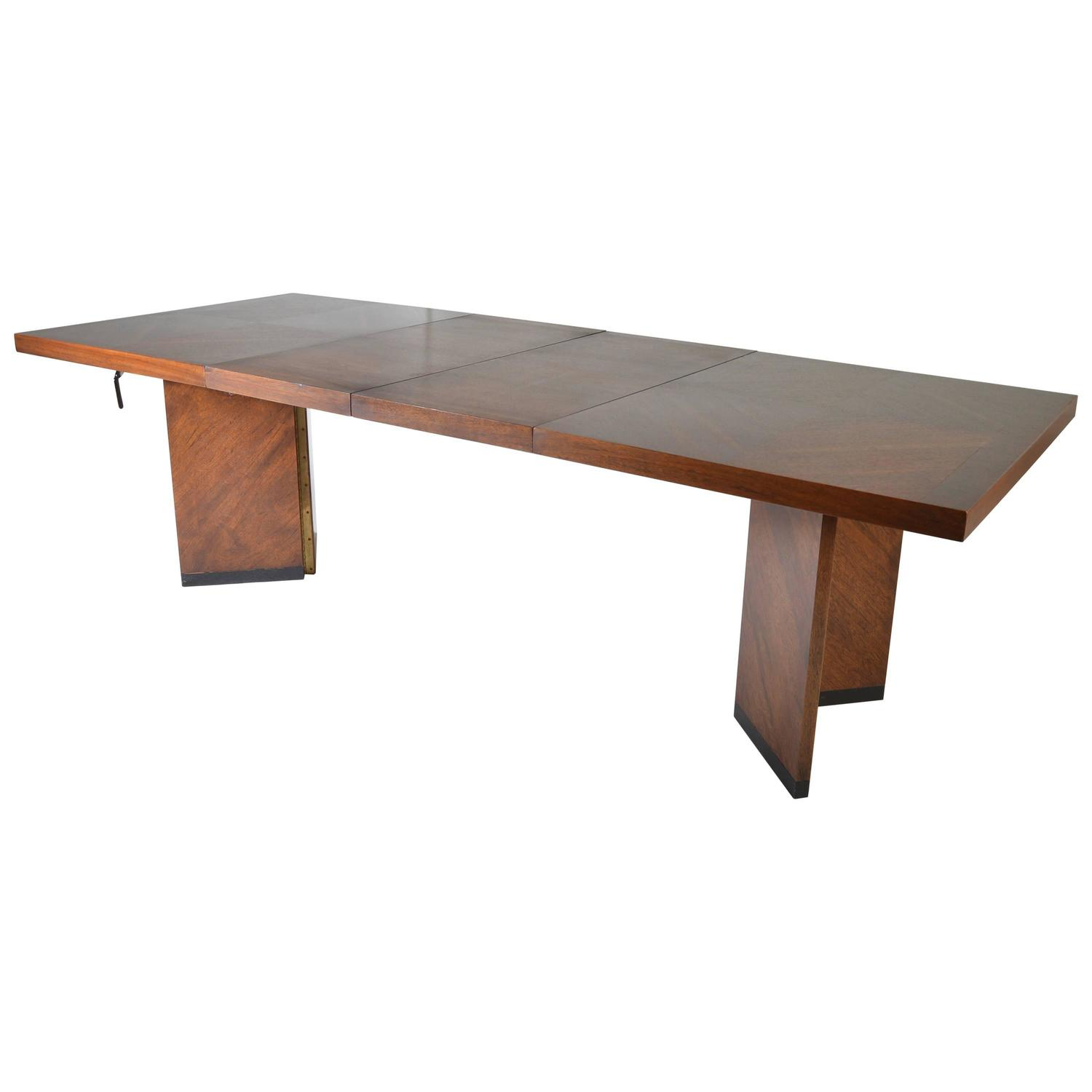 Midcentury Brutalist Walnut Dining Table By Lane At 1stdibs