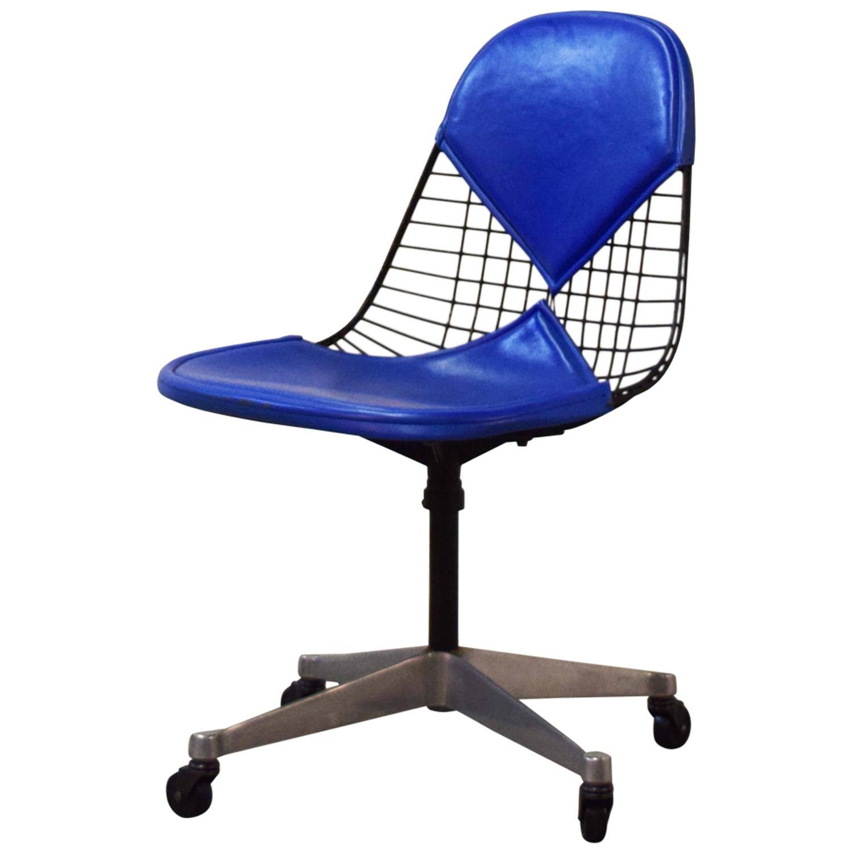 "Eames Herman Miller ""Bikini"" Wire Desk Chair at 1stdibs"