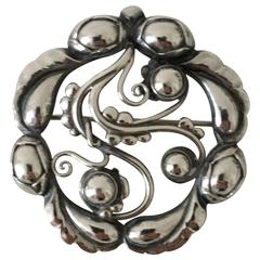 Georg Jensen Sterling Silver Brooch