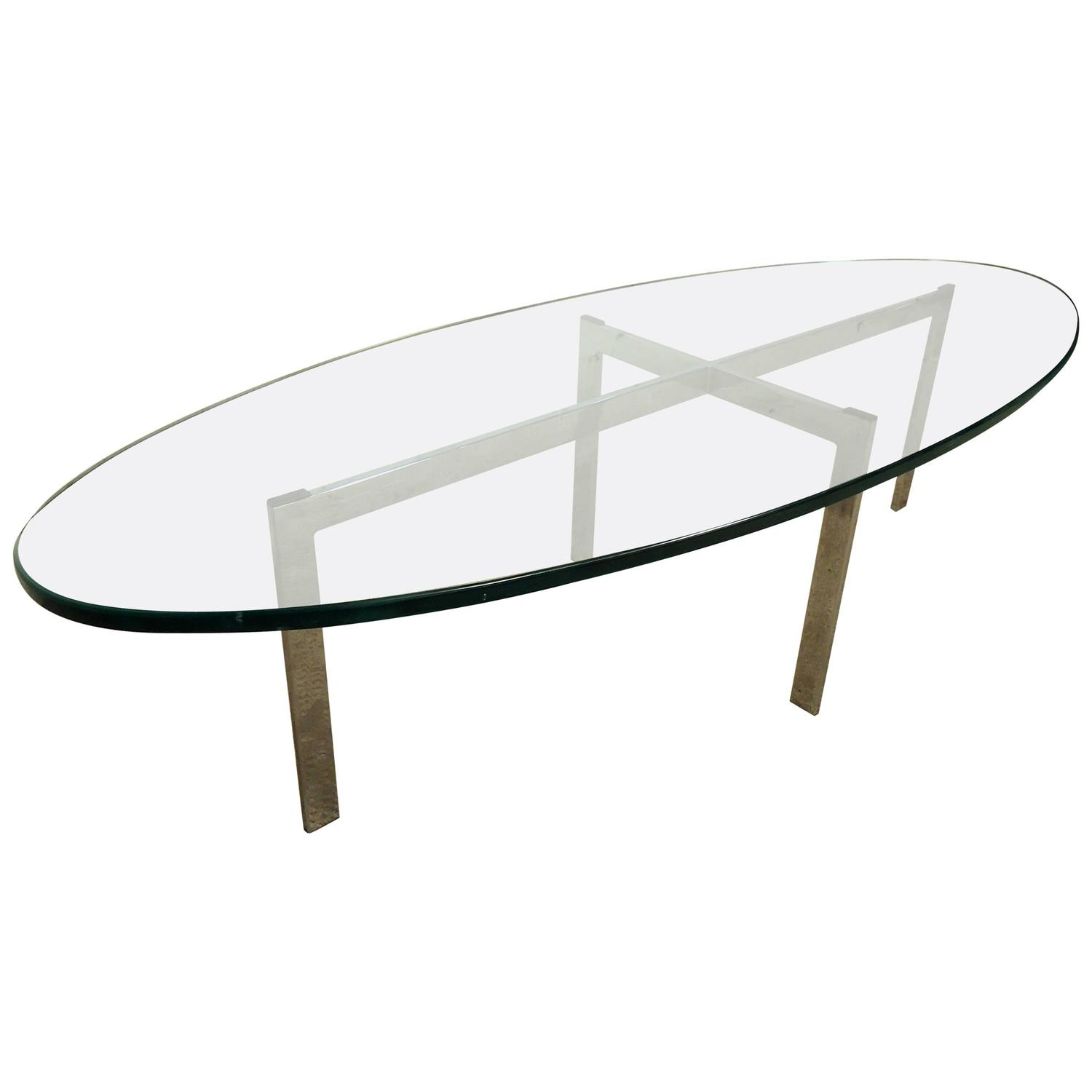 Midcentury Chrome And Glass Coffee Table At 1stdibs