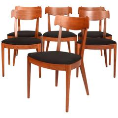 Set Of Six Kipp Stewart For Drexel Walnut U0027Declarationu0027 Dining Chairs