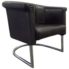 Leather Lounge Chair by Cy Mann