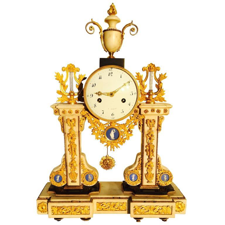 18th Century Wedgewood Mantel Clock At 1stdibs