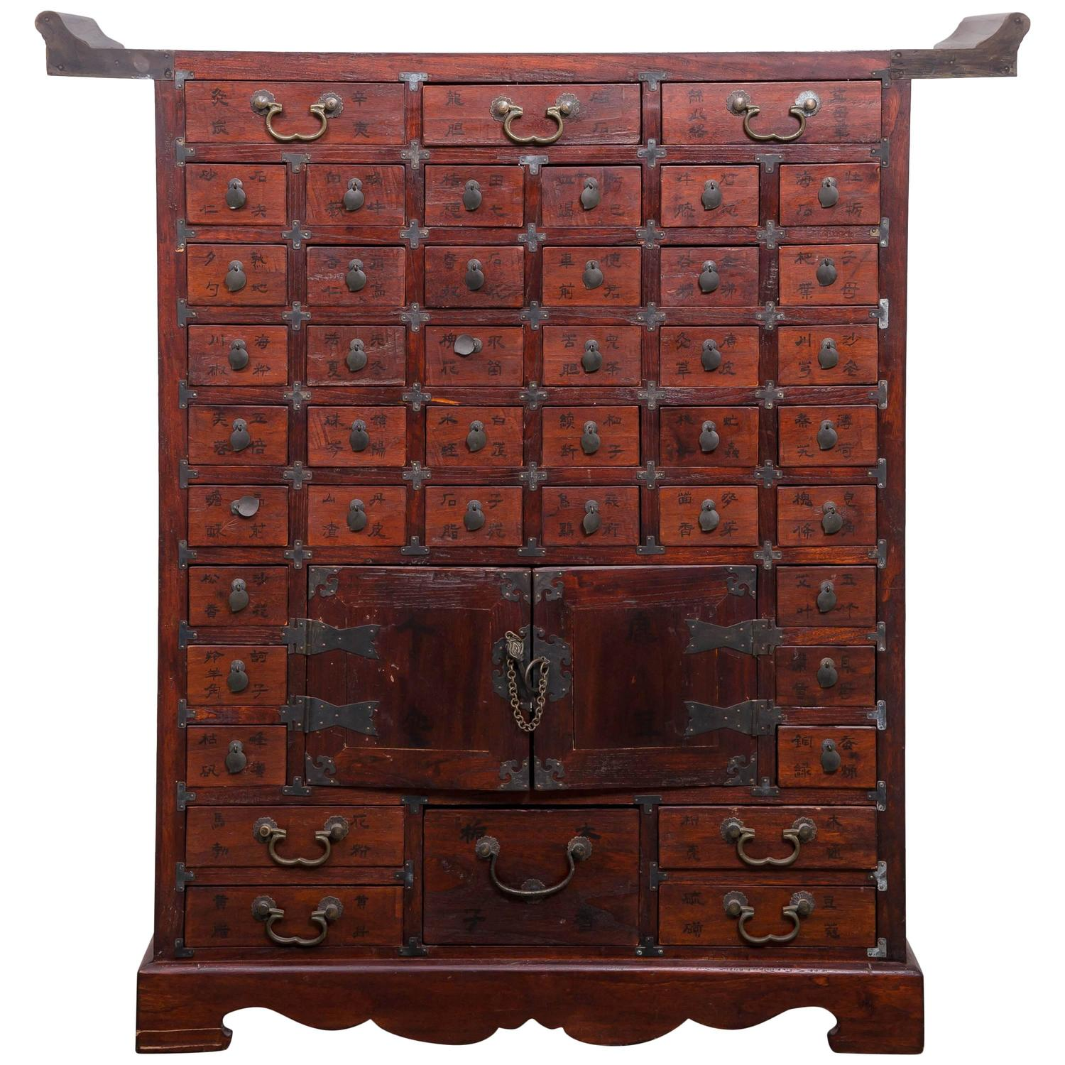 Chinese Multi Drawer Apothecary Chest At 1stdibs