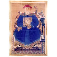 Impressive Large Chinese Ancestral Portrait
