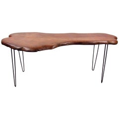 Beautiful Mid-Century Modern Nakashima Style Live Edge Console Table
