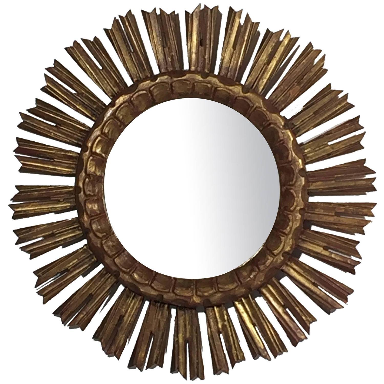 French gilt sunburst or starburst mirror at 1stdibs for Sunburst mirror
