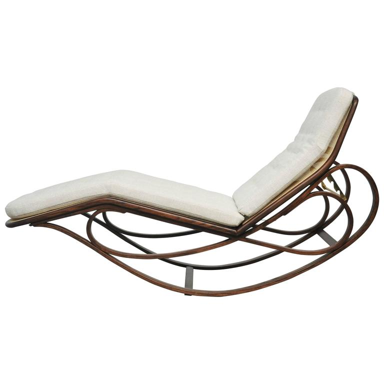 Dunbar rocking chaise lounge by edward wormley for sale at for Chaise x rocker