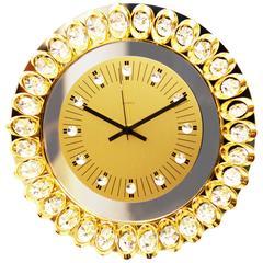 Crystal Mirror Wall Clock