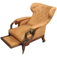 William IV Open Lounge Chair with Reclining Back by George Minter, circa 1830