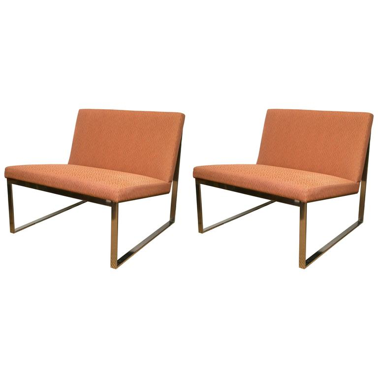 Pair of B2 Chairs by Fabien Baron for Bernhardt For Sale