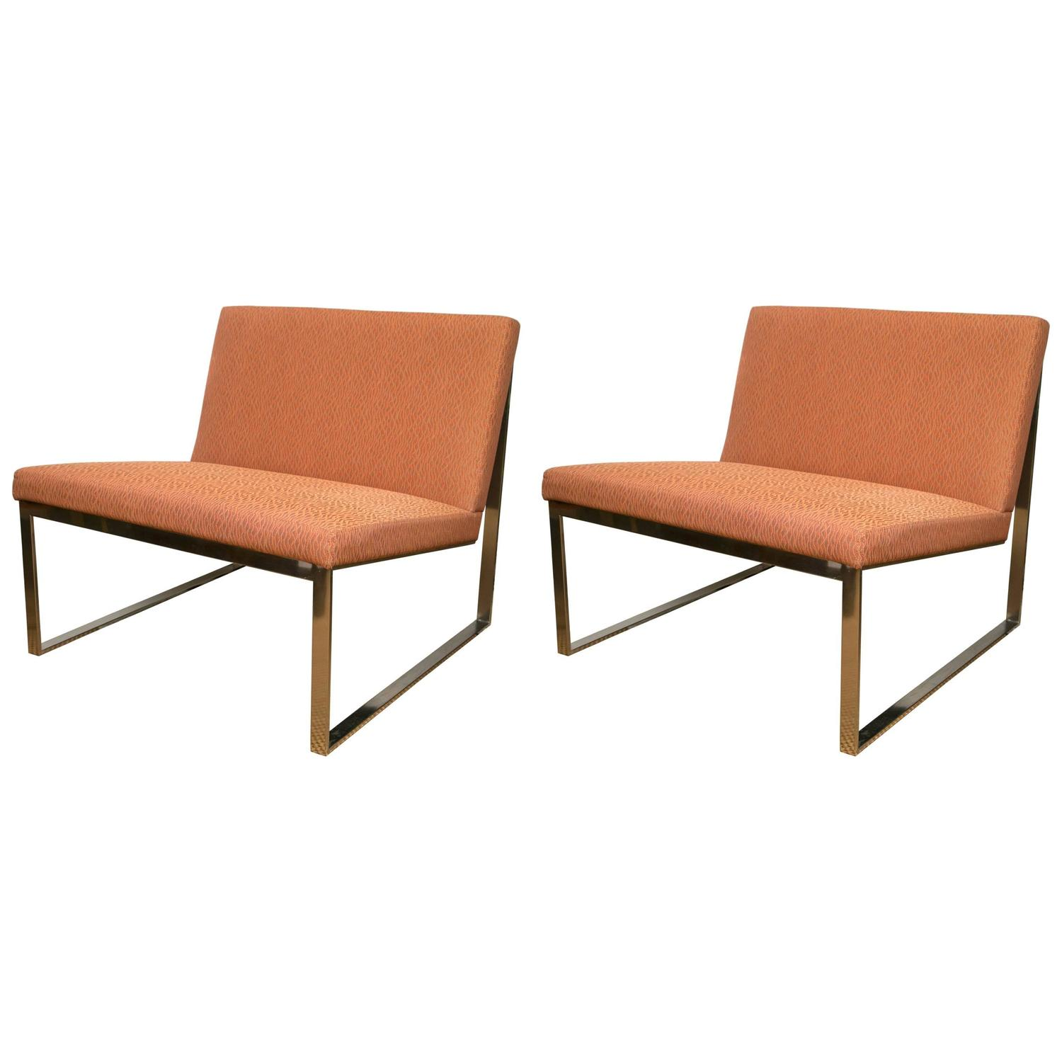 Pair of B2 Chairs by Fabien Baron for Bernhardt For Sale at 1stdibs