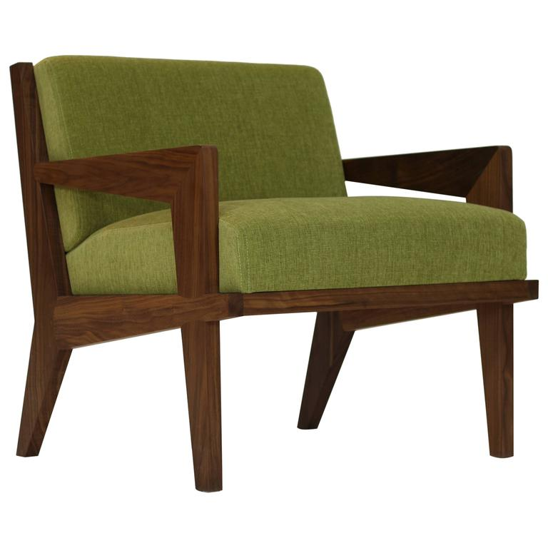 Acorn Lounge Chair in Black Walnut For Sale