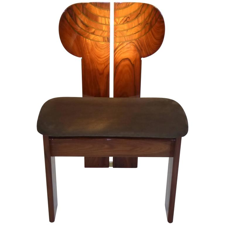 Italian Leather Furniture South Africa: Afra And Tobia Scarpa Africa Chair In Palisander At 1stdibs