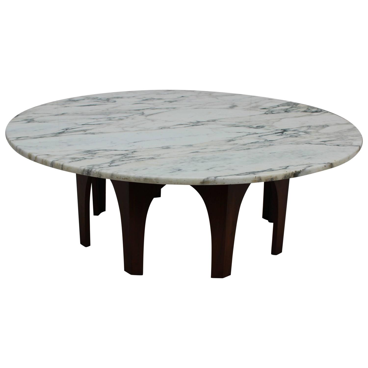 Harvey Probber Attributed Carrara Marble Coffee Table At 1stdibs