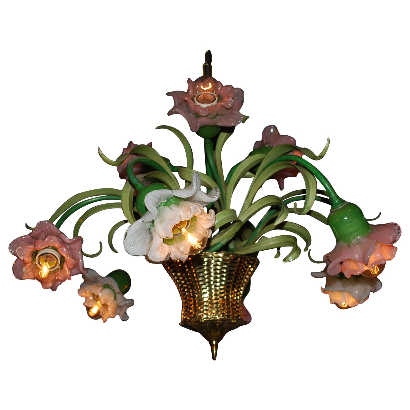 20th Century Floral Chandelier