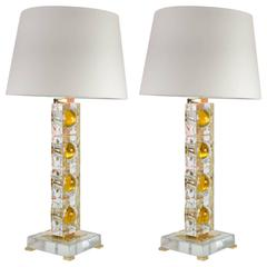 Pair of Lamps Designed by Gianluca Fontana