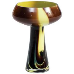 Carlo Moretti Marbled Glass Vase or Candleholder