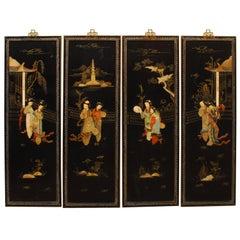 Chinese Coromandel Hardstone Panels