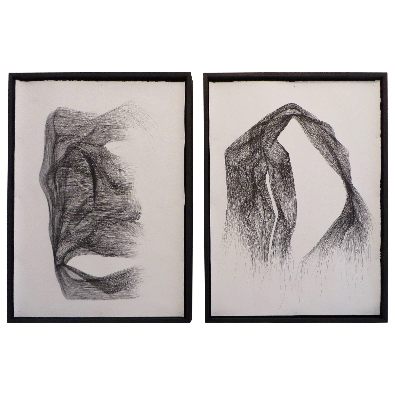 India Ink Drawings on Paper by Lukas Machnik