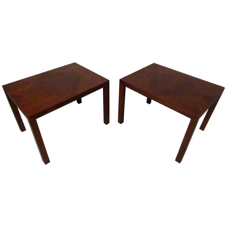 Pair Midcentury End Tables by Lane