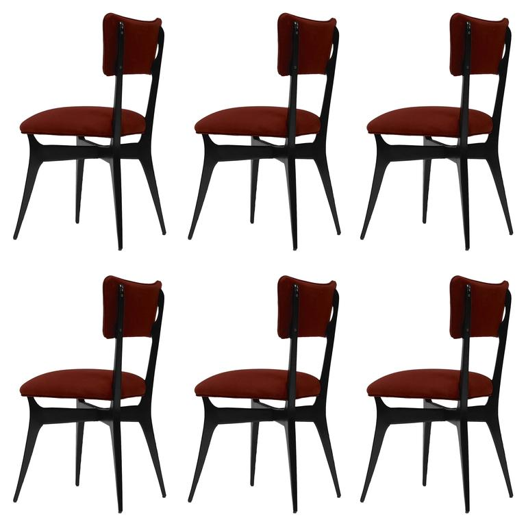 Six Dining Chairs Attributed to Ico and Luisa Parisi