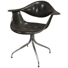 "Vintage Fiberglass George Nelson ""DAF"" Swag Leg Chair"
