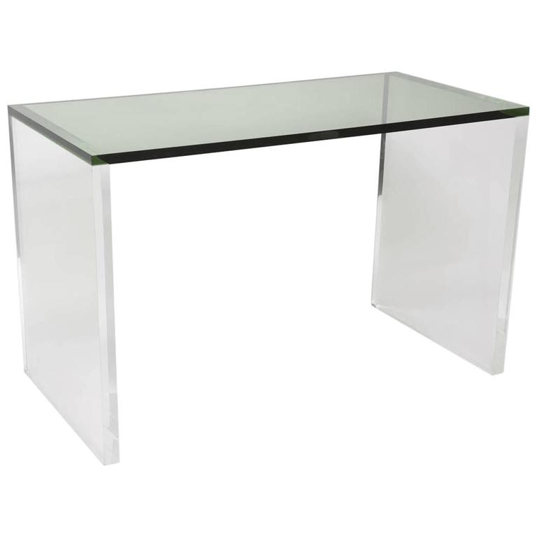 Two-Toned Acrylic Desk in Green and Clear