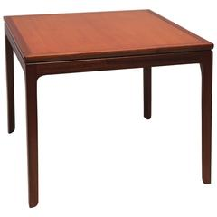 Chinese-Inspired Square Side Table in Mahogany by Ole Wanscher