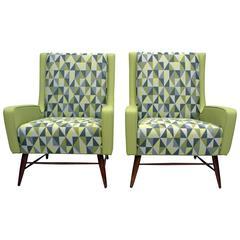 Pair of Italian Lounge Chairs in the Style of Gio Ponti