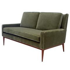 Paul McCobb Directional Loveseat in Olive Mohair