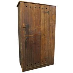 Large Antique American School Wood Locker