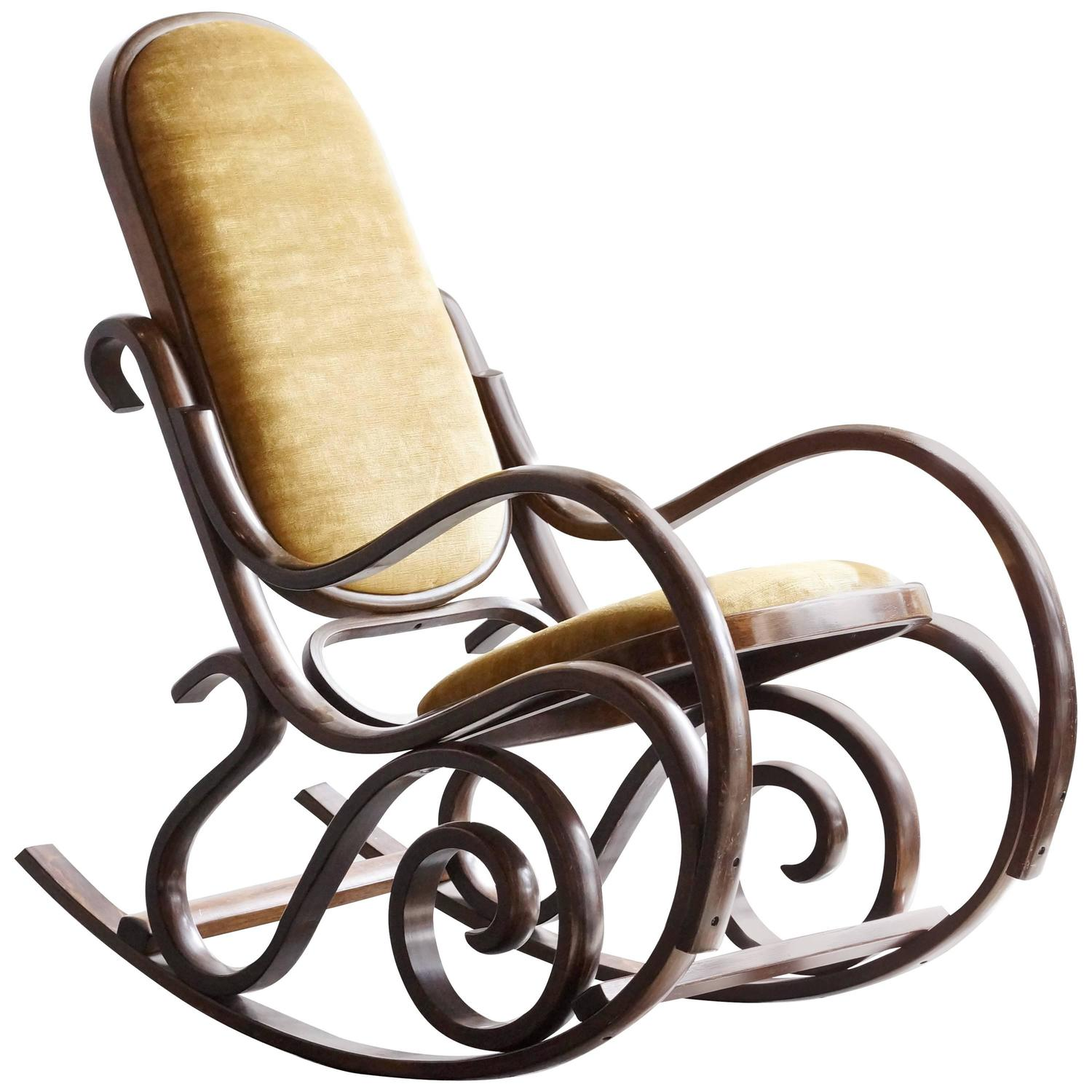 Bentwood rocking chair value - Thonet